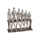 Férfiak csoportja poli-ezüst (B / H / T) padon 26x