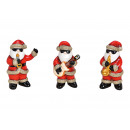 wholesale Figures & Sculptures: Nikolaus ribbon with glitter ceramic red 3-fold s