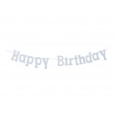 Happy Birthday ghirlanda realizzato in carta glitt