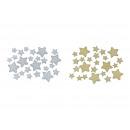 Set lettiera, stella di carta glitterata / champag