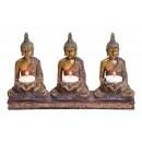 Teelichthalter Buddha per 3 lumini in poli Bu