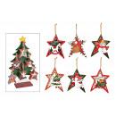 Christmas hanger star Christmas theme 48 pz