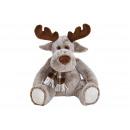 wholesale Dolls &Plush: Moose sitting in plush brown (B / H / D) 28x37x23c