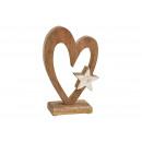 groothandel Woondecoratie: Display hart met metalen ster decor van mango H
