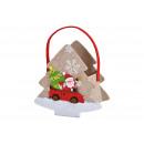 Feltro cesto di abete con decorazioni in feltro di