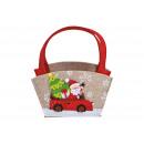 wholesale Toys: Felt basket Santa Claus decor with handle made of