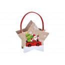 Cesta in feltro con decorazione di Babbo Natale co