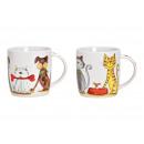 Tazza per cani, gatto in porcellana Decor bianco 2