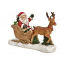 Święty Mikołaj na sankach wykonany z wielobarwnego