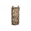 wholesale Wind Lights & Lanterns: Lantern made of wood, glass brown (W / H / D) 18x4