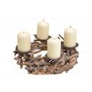 Kerzenhalter Adventsgesteck, Adventskranz aus Holz
