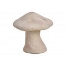 Gomba agyag barna (B / H / D) 14x14x11cm
