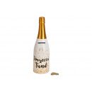 wholesale Gifts & Stationery: Money Box Bottle, Processo Fund Ceramic White, g
