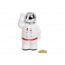 Savingsbox Astronaut ceramic white (W / H / D) 11x