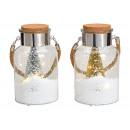 Decorazioni per lanterne con 10er LED, Schneewirbe