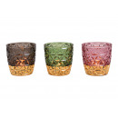 Lanterna Retro Glass Decor Colorata, oro 3x s