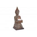 Buddha met kaarsenhouder van polybruin (B / H / D)