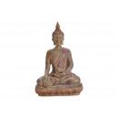 Buddha in Poly Brown (B / H / D) 26x39x14cm