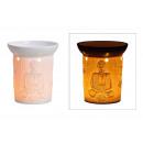 Lampe Aroma Buddha Décor Porcelaine Blanche (B / H