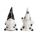 Wichtel ceramica bianco, nero 2- volte assortito .