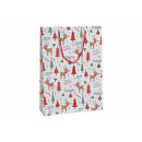 wholesale Gift Wrapping: Gift bag moose Merry Christmas made of paper / car