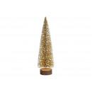 Kerstboom op boomstam met glitter van ...