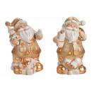Windlicht Nikolaus porcelain Gold 2-fold sorti