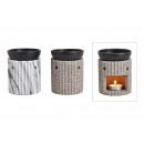wholesale Home & Living: Fragrance lamp 3D Streifendekor Stone ceramic look