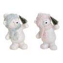 wholesale Dolls &Plush: Poly White Bear, Glitter 2 times assorted , (B / H