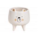 hurtownia Dekoracje: Miska ceramiczna biała, złota (B / H / D) 8x9x8cm