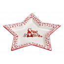 calice natalizio piatti forma di stella di Ker