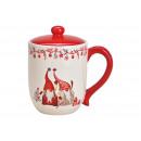 Stagno, tazza Decorazioni in ceramica Gnome natali