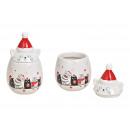 Decorazioni natalizie in latta in ceramica bianca