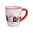Tazza Christmas Decor in ceramica bianco (B / H