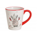 Tazza Elk Decor in ceramica bianca (B / H / D) 12x