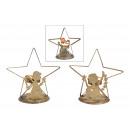 wholesale Candles & Candleholder: Tealight holder star, angel decor of metal gold