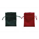 poliestere regalo in poliestere rosso, verde a 2 p