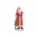 Babbo Natale da Poly Red (B / H / D) 7x14x4cm