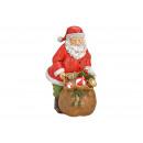 Mikołaja z torbą na prezent wykonaną z poli- redu