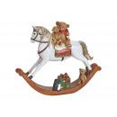 Cavallo a dondolo in Poly White (B / H / D) 13x11x