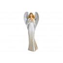 Angelo con cuore in Poly White (B / H / D) 12x32x9