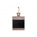 Memo board La cucina in legno nero (B / H / D) 32x