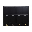 Planner settimanale Memo placca, 4 clips in metall
