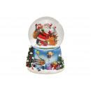 Carillon globo di neve Babbo Natale con musica, Sc