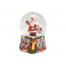 Carillon globo di neve Babbo Natale realizzato in