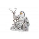 Scena di Babbo Natale con animali fatti di poly si