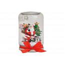Globo di neve Mason Jar Babbo Natale colorato (B /