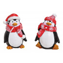 Penguin with Cap / Scarf made of Poly Red 2-fold s