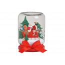Vaso di vetro globo di neve Babbo Natale vetro B