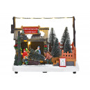 Téli táj karácsonyfa eladó világítással